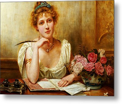 The Letter  Metal Print by George Goodwin Kilburne