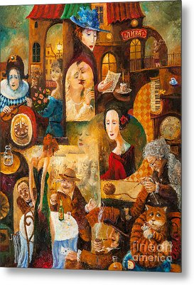 Metal Print featuring the painting The Letter by Igor Postash