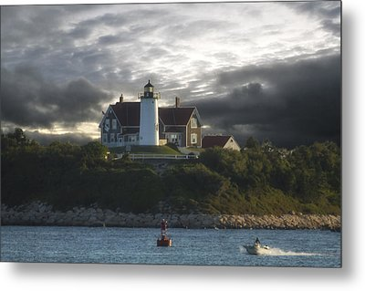 The Light At Nobska Point  Metal Print by Constantine Gregory