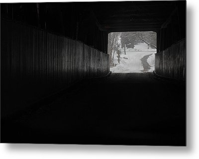 The Light At The End Of The Tunnel Metal Print by Nick Mares