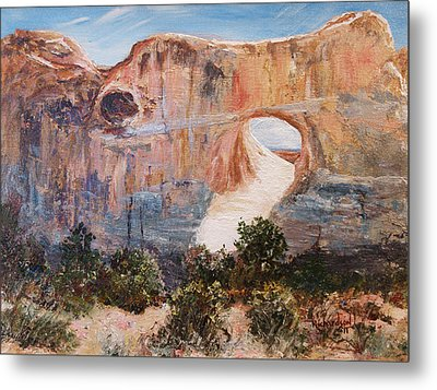 Metal Print featuring the painting The Light Of God by George Richardson