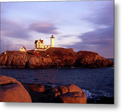 The Light On The Nubble Metal Print