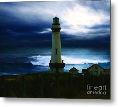 The Lighthouse Metal Print by Cinema Photography