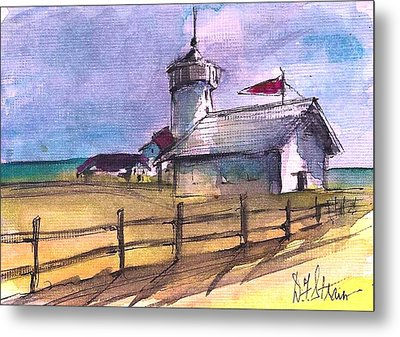 The Lighthouse Metal Print by Diane Strain