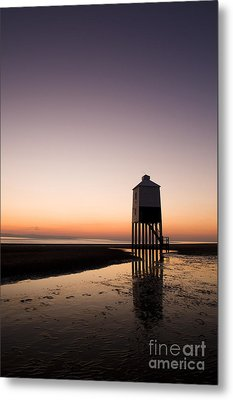 The Lighthouse On Legs Metal Print by Anne Gilbert