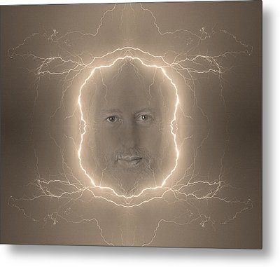 The Lightning Man Sepia Metal Print by James BO  Insogna