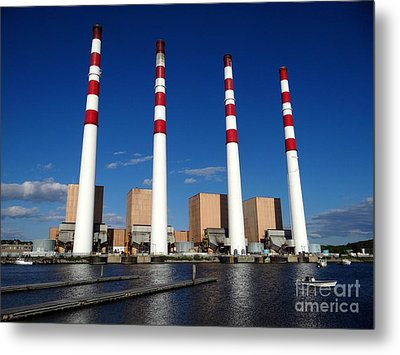 Metal Print featuring the photograph The Lilco Towers by Ed Weidman