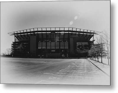 The Linc In Black And White Metal Print