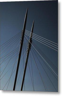 The Lines Of The Bridge 3 Metal Print