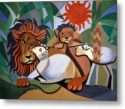 The Lion And The Lamb Metal Print by Anthony Falbo