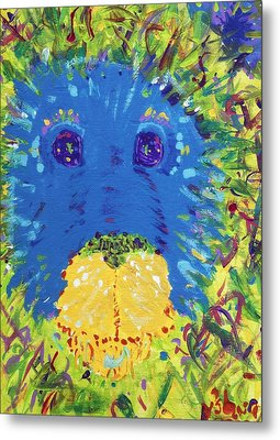 Metal Print featuring the painting The Lion Blooms In Springtime by Yshua The Painter
