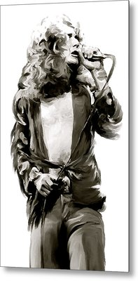 The Lion  Robert Plant Metal Print by Iconic Images Art Gallery David Pucciarelli