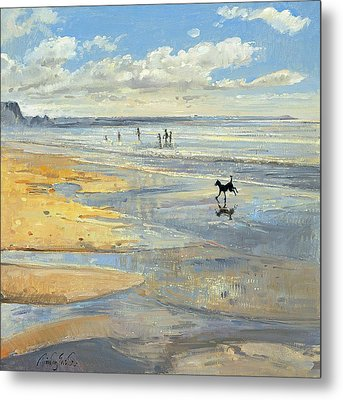 The Little Acrobat Oil On Canvas Metal Print by Timothy Easton