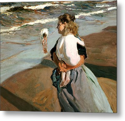 The Little Granddaughter Metal Print by Joaquin Sorolla y Bastida