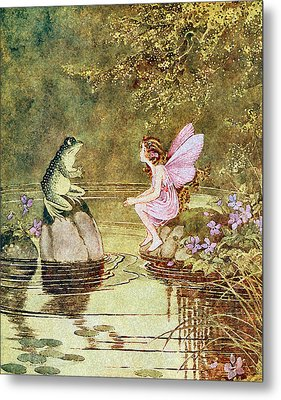 The Little Green Road To Fairyland  Metal Print by Ida Rentoul Outhwaite