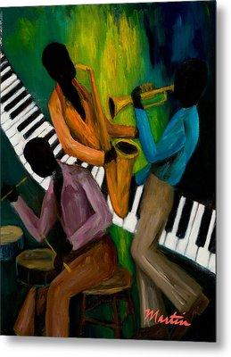 The Little Jazz Trio II Metal Print by Larry Martin