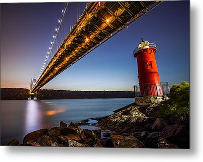 The Little Red Lighthouse Metal Print by Mihai Andritoiu