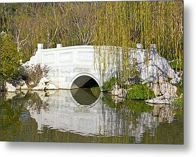 The Little White Bridge Metal Print