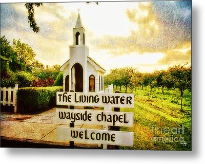The Living Water Wayside Chapel Metal Print by Scott Pellegrin