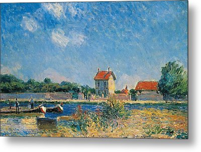 The Loing Canal At Saint-mammes Metal Print by Alfred Sisley