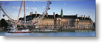 The London Eye And County Hall Metal Print by Rod McLean