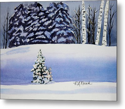 The Lone Christmas Tree Metal Print by Patricia Novack