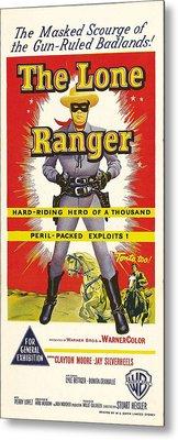The Lone Ranger, Australian Poster Art Metal Print by Everett