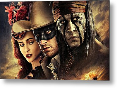 The Lone Ranger Metal Print by Movie Poster Prints