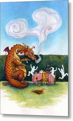 The Lonely Dragon Metal Print by Isabella Kung