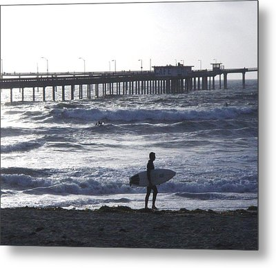 The Lonely Surfer  Metal Print