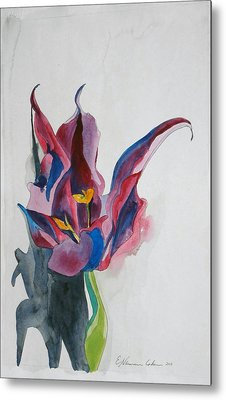 The Lonely Tulip Metal Print by Esther Newman-Cohen