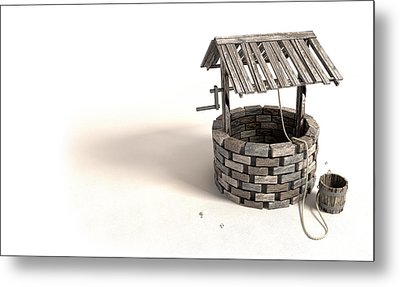 The Lonely Wishing Well Metal Print by Allan Swart