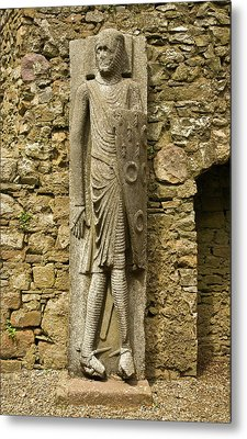 The Long Cantwell, Effigy Of A Knight Metal Print by Panoramic Images