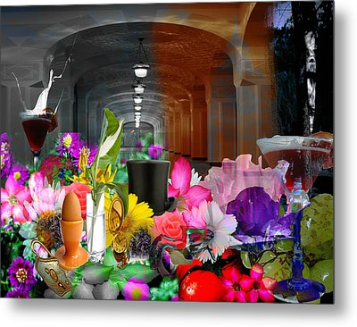 Metal Print featuring the digital art The Long Collage by Cathy Anderson