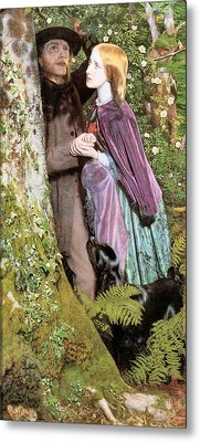 The Long Engagement Metal Print by Arthur Hughes