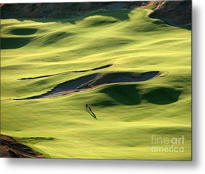 Metal Print featuring the photograph The Long Green Walk - Chambers Bay Golf Course by Chris Anderson