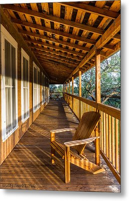 The Long Porch Metal Print