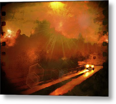 Metal Print featuring the photograph The Long Road Home  by Fine Art By Andrew David