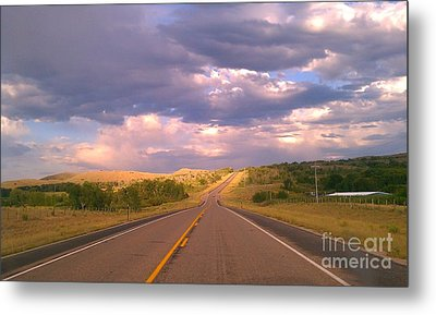 The Long Road Home Metal Print by Chris Tarpening