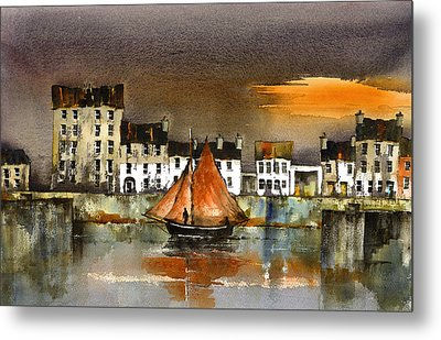 The Long Walk Sunset Galway Citie Metal Print
