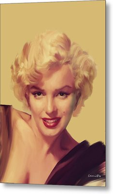 The Look In Gold Metal Print by Chris Consani
