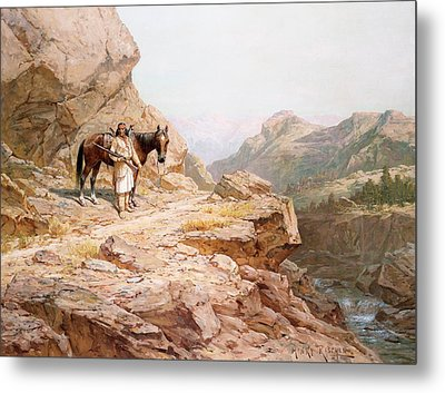 The Look Out Metal Print by Henry Raschen