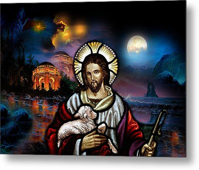 Metal Print featuring the digital art The Lord Is My Shepherd by Karen Showell