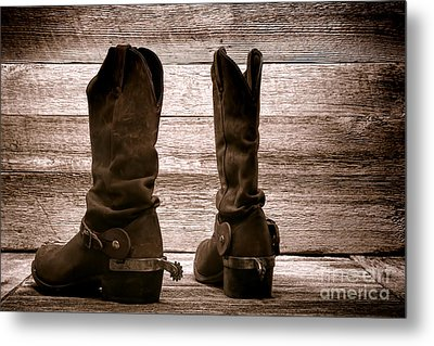 The Lost Boots Metal Print by Olivier Le Queinec