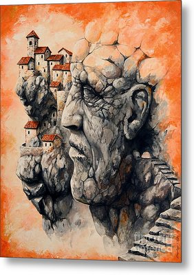 The Lost City - The Sentinel Metal Print by Emerico Imre Toth