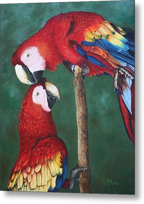 The Love Birds Metal Print by Pam Kaur