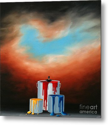 Metal Print featuring the painting The Love Of Painting by Ric Nagualero