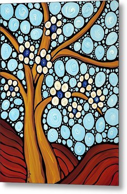 The Loving Tree Metal Print by Sharon Cummings