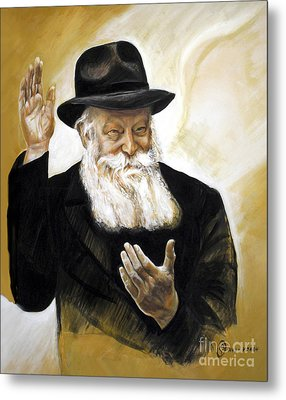 The Lubavitcher Rebbe Metal Print by Yael Avi-Yonah