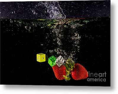 The Lucky 7 Splash Metal Print by Rene Triay Photography